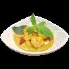 343-Code di mazzancolle al curry giallo e latte di cocco